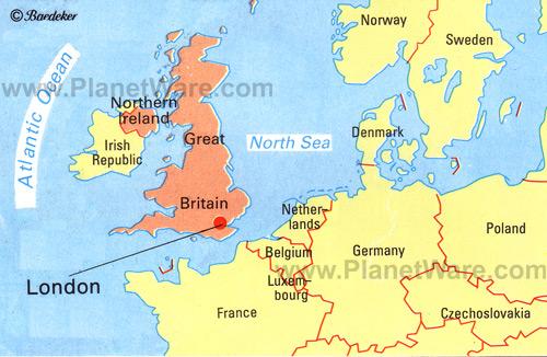 London Location Map Modelautoszeeland