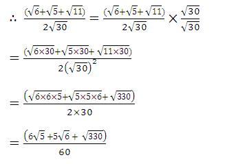 Rationalise the denominator