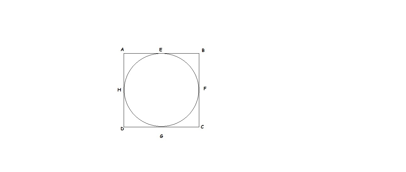 A circle is inscribed in a quadrilateral abcdnd the radius r ds 8 cm let here s gin the diagram ccuart Images