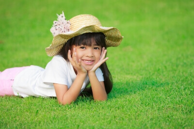 A patch of green at school