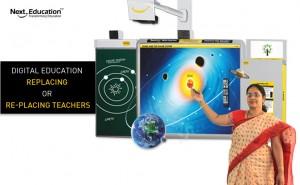 Is digital education replacing or re-placing teachers?