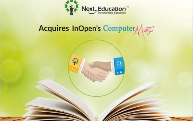 Next Education acquires InOpen's Computer Masti –                                                Brings home core computer science curriculum
