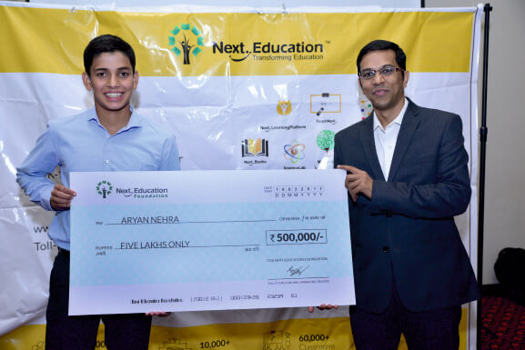 A Budding Swimmer Receives Scholarship from Next Education Foundation
