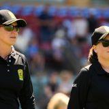 Claire Polosak, Eloise Sheridan make umpiring history in Australia