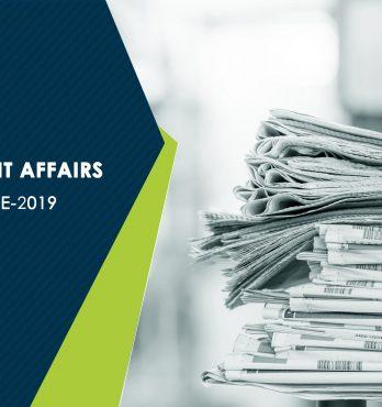 Current Affairs – June 2019