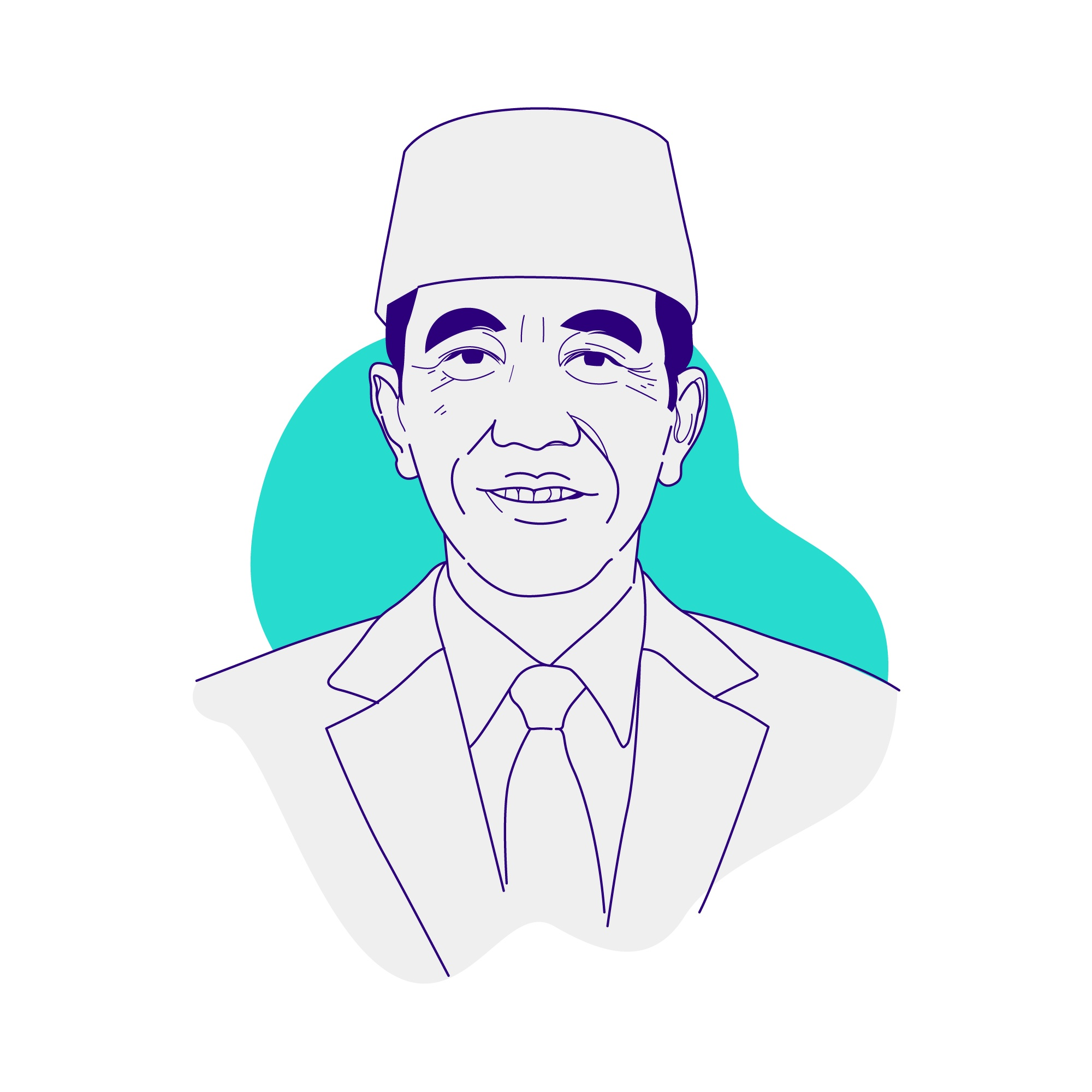 Joko Widodo becomes Indonesia's President for the second time