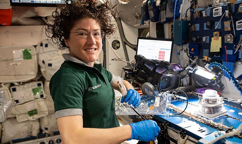 NASA astronaut Christina Koch sets new female space record